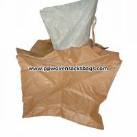 Moister Proof Large Brown PP Container Bags / Jumbo Bag for Packing Sand or Cement
