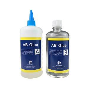 China Liquid LED Channel Letter Crystal Clear Epoxy Resin Ab Glue Adhesive on sale