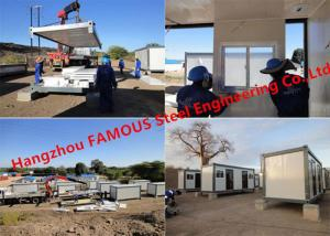 China Modular Flat Pack Container Office Rooms For Temporary Use Prefab Transportable Cabins With Durable Frame on sale