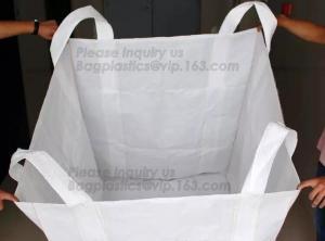 China China Factory price 100% new material 1 ton 1.5 ton PP bulk bag woven big bag jumbo bags FIBC,polypropylene pp woven bul on sale