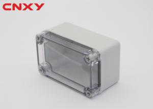 China ABS plastic small box with transparent PC cover waterproof junction box outdoor electrical junction box 110*80*70 mm on sale