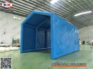 China PVC Giant Blue Inflatable Tent , Inflatable Backpacking Tent For Outdoor Activities on sale