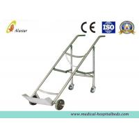 Medicine Equipment Stainless Steel Double Feet Trolley For Oxygen Bottle (ALS-A07)