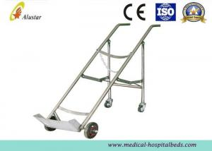 China Medicine Equipment Stainless Steel Double Feet Trolley For Oxygen Bottle (ALS-A07) on sale