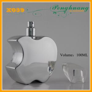 China Aluminum Painting Lady Art Glass Perfume Oil Bottles 100ml on sale