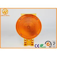 China Orange Blinking 932 LED Solar Powered Barrier Warning Lights With CE Certificate on sale