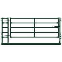 China Heavy Duty Farm Gate Fence / Powder Coated Metal Cattle Gates Color Customized on sale