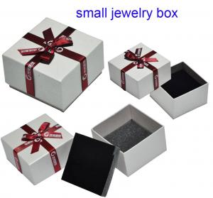 Luxury small jewelry box making supplies with flocking insert for