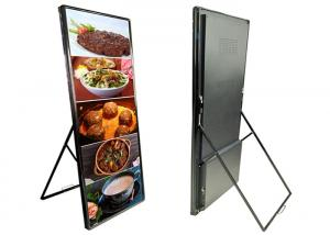 China Commercial P3mm Portable LED Poster Display For Banks / Chain Shops 160° View Angle on sale
