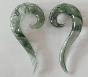 China GR Spiral Glass Piercing Jewelry / Tunnel Jewelry for Women , Customized on sale
