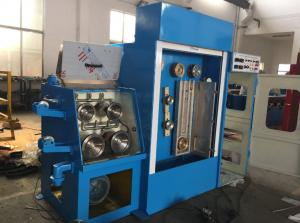 China Industrial Fine Copper Wire Drawing Machine With Double Spoolers Easy Maintenance on sale