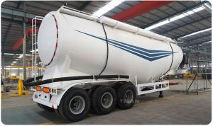 China Titan Vehicle 3 axle 30 ton fly ash bulk tanker truck trailer on sale