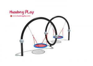 China Modern Design Playground Equipment Swings Linear Low Density Polyethylene on sale