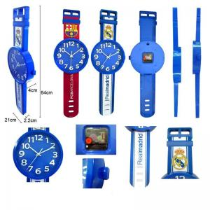 China OEM fashion design watch shape wall clock on sale