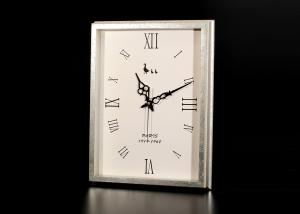 "China Antique Foiled Silver Framed Decorative Wall Clocks In Rectangle Size 13""x17"" on sale"