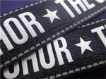 Bright And White Silicone Woven Clothing Labels Environmentally