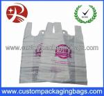 Color printed Plastic Biodegradable bags with Side gusset vest handle shopping bag