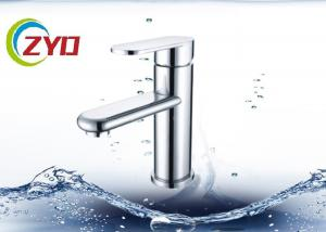 China ABS Plastic Water Tap Faucet  With Decoration White Color Deck Mounted on sale