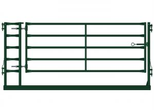China Green Portable Livestock Fence Panels , Sheep / Goat Corral Panel With Gate on sale