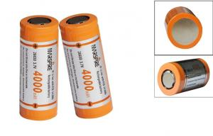 China MarsFire 26650 4000mAh Rechargeable Lithium Battery, LI-ion 3.7V Battery Recharge on sale