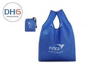 China Utility Blue Polyester Tote Bags Silk Screen Printed 28*40cm Dust Proof Hot Stamping on sale