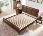 Traditional Bedroom Solid Wood Bed Base , Cherry Wood Low Platform Bed Frame