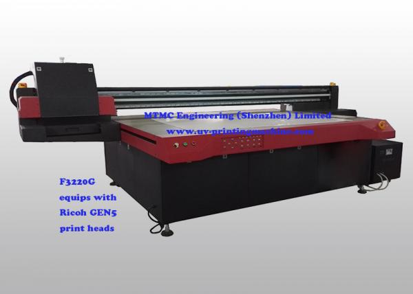 Wide Format UV Glass printing Machine With Ricoh GEN5 and Varnish