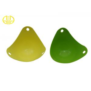 China Safe Silicone Kitchenware , green Triangle Silicone microwave oven bowls on sale
