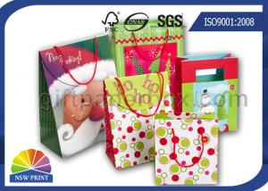 China Christmas / Birthday / Festival Wrapping Paper Gift Bag with Customized Logo Printing on sale