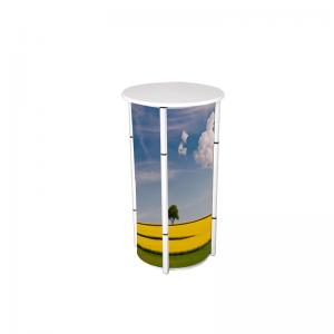 China Spiral Tower System Promotional Counter Stand , Exhibition Round Promotion Table on sale