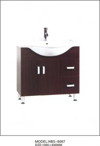 China 100 X 53 / cm modern single sink bathroom vanities , small bath vanity cabinets 15mm plywood on sale