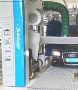 China Automatic tunnel car wash equipment with spinning car wash brush on sale