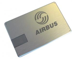 China Custom Metal ultrathin VIP Credit Card USB Sticks Flash Drive 8GB, 16GB laser logo on sale