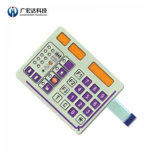 China Metal Dome Membrane Switch Custom Pet Printing Circuit Fit Control PET Keypad on sale