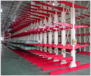 China Industrial Warehouse Or Economical Steel Pipe Storage Racks Used Cantilever Rack supplier
