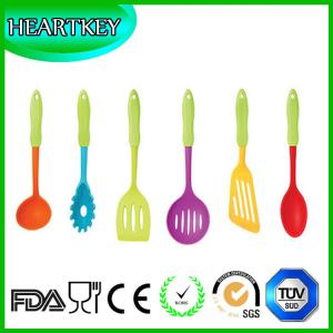 China Kitchen Winners Premium Silicone Cooking Utensils ● Set of 5 Including-spatula, Ladle, Slotted Turner, Mixing Spoon, Spo on sale
