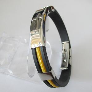 China Magnetic Rubber Bracelets for Men on sale