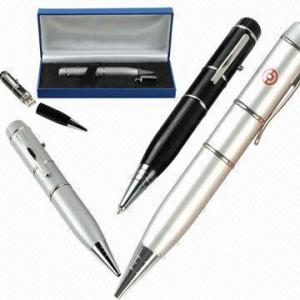 China Fashionable High Speed  Plastic Pen USB Flash Drive 2.0 with LED indicator AT-031H on sale