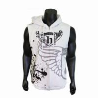 China Custom Made Casual Sport Clothes Men Sublimation Sleeveless Hoodie Top on sale