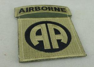China Toys And Packages Air Borne Patches Woven Label For American Military on sale