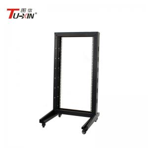 China Universal 22U 2 Post Open Frame Server Rack Impact Resistance For Most IT Environments on sale