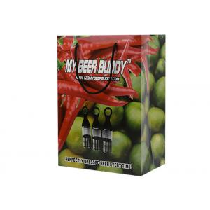 China Low Cost Fruits Package Green Printing Recycle Paper Gift Bags With Rope Handle on sale