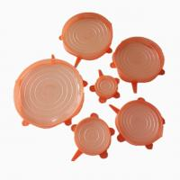 Best-selling 6 Packs Of Kitchenware Reusable Multi-size Food Fresh-Keeping Silicone Stretch Lids