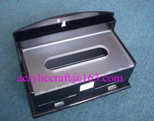 China Upmarket Rectangle Restaurant Tabletop Perspex Napkin Holder, Acrylic Tissue Box on sale