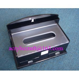 China Upmarket Rectangle Restaurant Tabletop Perspex Napkin Holder, Acrylic Tissue Box on sale