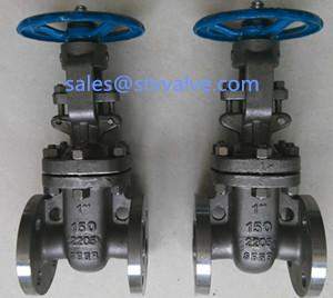 China ANSI 150LB 2205 Gate valve,RF ,DN25 on sale