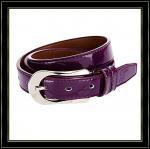 Couleur pourpre en cuir authentique de la ceinture des femmes de peau de vache à ceinture de marque avec le vrai cuir 014