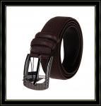 Stigmatisez la ceinture «Fuliter» boucle noire véritable de Pin de casaul des ceintures en cuir de 245 hommes de vache
