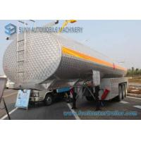 China 35000L Alcohol Tanker 3 Axles SUS304 Chemical  Liquid Tank Trailer on sale