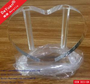 China Acrylic Vase Perspex Display Stands Modern High Polish Heart Shape on sale